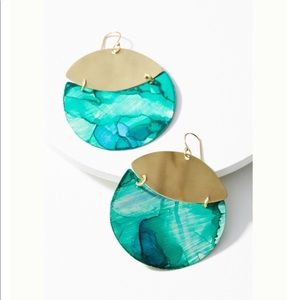 Anthropologie Sibilia Movement Patina Earrings